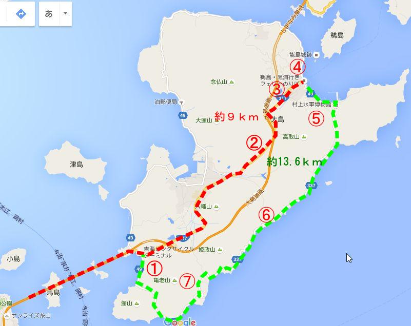 大島サイクリングコース