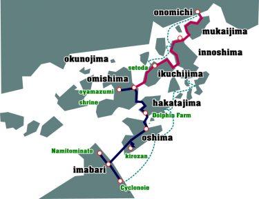 しまなみ海道の距離は?一日の走行距離をどのくらいで見積もればいいの?