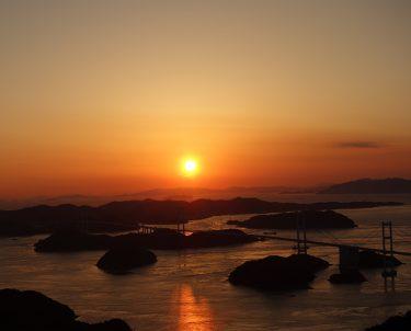 亀老山の夕日の撮影時間は何時ごろがおすすめ